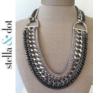 Stella & Dot Femme Fatale Chunky Silver Necklace